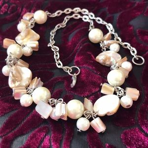 Polished Shell Necklace in Pearly Creams